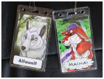 Commissions: Double-Side Con-Badges part 3 by SaQe