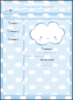 Cloud CSS Journal Layout by cssdesigns