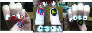 Big Hero 6 Nails by xxxgiottoxxx