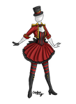 Circus Stripes outfit adoptable SOLD by Captain-Savvy
