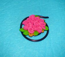 roses on wire pin by strictlyhandmade