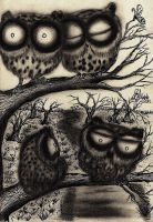 Original Artwork - Sooty Owl Journal @ my shop by InkyDreamz