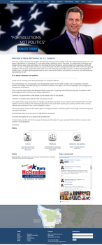 McClendon For Congress Website by fireproofgfx