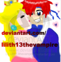 Peach and Roy Oekaki by Lilith13thevampire