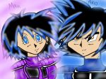 Dbz Turles and Ai's kid's by Diamond-Rainbow