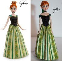 DS Deluxe Frozen Set Anna doll OOAK by lulemee