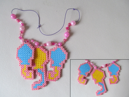 Pinkie Pie's Cutie Mark Bead Sprite Necklace by Hermine456