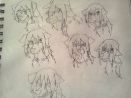 .:Sketch:. The many Expressions of Britt by Ninja-Burito