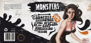 Monsters wine labels by dkmbaby