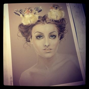 A bird in the hair is worth by christiana