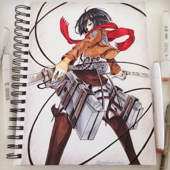 Mikasa Ackerman by Fangirl342