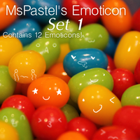 GIMP MsPastel's Emoticon Brush Set 1 by MsPastel