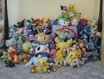 All My Pokemon Plushies by ShroudofShadows