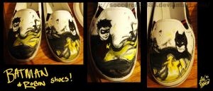 Batman and Robin Shoes by soccercat4685