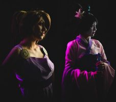 Megara and Fa Mulan by King-Bobbles