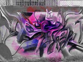 graffiti getting color by hongoland