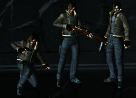 Leon Jacket Pose Pack by a-m-b-e-r-w-o-l-f