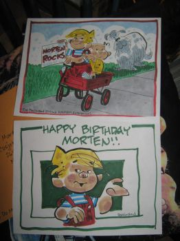 Original drawings of Dennis the Menace by MortenEng21