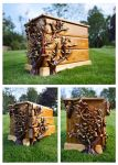 3 Drawer, hand carved Ivy chest... by back2root