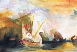 Turner Watercolor Study by SundayPrism