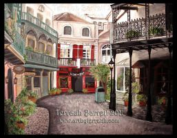 Royal St. New Orleans Square by Terrauh