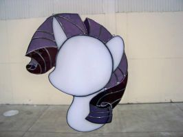Rarity Stained Glass by captivefancy