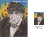 Second Doctor - Pencil Mini portrait by DegasClover