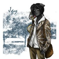 The town of Rirka: Jay by HappySkunk