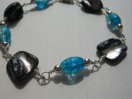 Blue Bombshell Beaded Bracelet by aussiechicksteph