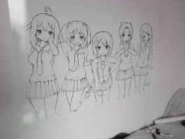 Sakura Trick fanart | whiteboard by Evolutionx7