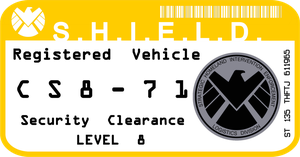 SHIELD Vehicle Registration Decal by viperaviator