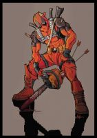 Deadpool... chainsaw by Saxon-Blake