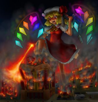 Flandre on a rampage by AlloyRabbit