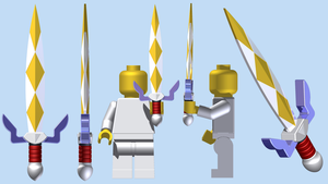LEGO Gilded Sword by mingles