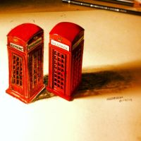 Telephone Cabin 3D Drawing by lucasnetto