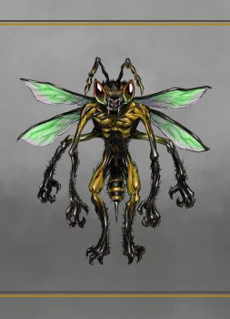 humanoid bee by Entropician