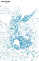LK Clockworks 2 pencils by GabrielRodriguez