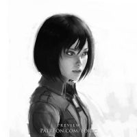Mikasa Ackerman expression preview by luffie