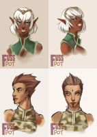 $10 Busts - Set 1 by fusspot