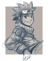naruto sketch by Ithilean