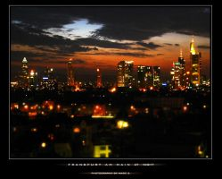 Frankfurt am Main at Night by deladark
