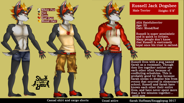 New Russell Reference Sheet by Snuggiepug