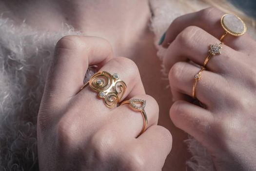 Needs Jewellery Beautiful Ring With White Stone by jacobm26