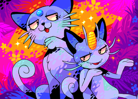 Alolan kitties by Koolaid-Girl