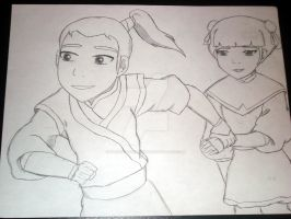 Zuko and Mai Sketch Finished by narniamushroom02