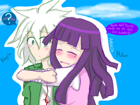 Nagito and Mikan (I love this ship) - Do Not Steal by IISonicComicII