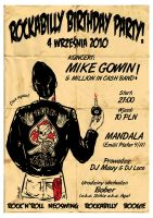 Rockabilly B Day Party2 Poster by schizulka