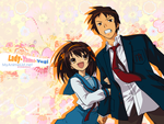 HARUHI AND KYON by Gns-desing-X3