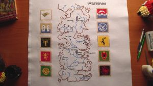 The map of Westeros cross stitch by Girnelis