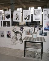 figure girl with horns at the exhibition the city by Hikariuselen